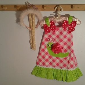 Youngland Size 3T Pink Checkered Summer Dress